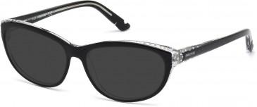 Swarovski SK5135 Sunglasses in Shiny Black