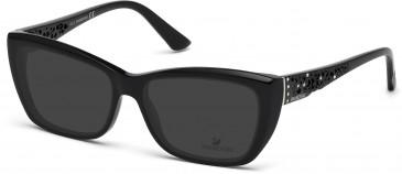 Swarovski SK5084 Sunglasses in Shiny Black