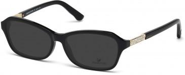Swarovski SK5086 Sunglasses in Shiny Black