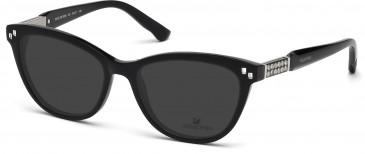 Swarovski SK5088 Sunglasses in Shiny Black