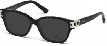 Swarovski SK5090 Sunglasses in Shiny Black
