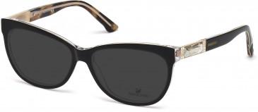 Swarovski SK5091 Sunglasses in Black/Other