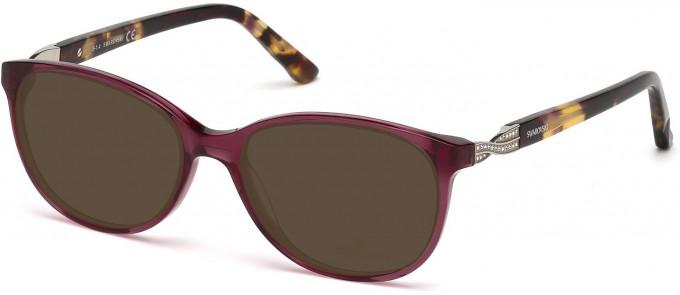Swarovski SK5122 Sunglasses in Shiny Bordeaux