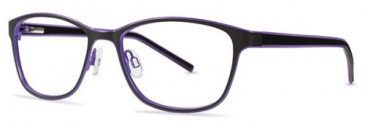 X-Eyes 157 Glasses in Black/Purple