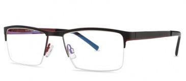 X-Eyes 153 Glasses in Black/Red