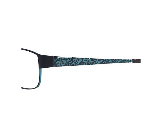 X-Eyes 149 Sunglasses in Black/Turquoise