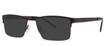 X-Eyes 153 Sunglasses in Black/Red