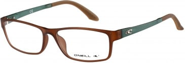 O'Neill SKY Glasses in Matte Brown Crystal/Teal Crystal