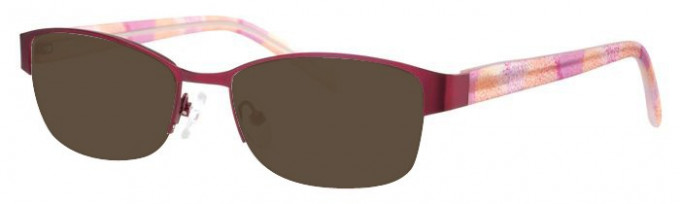 Ferucci FE1766 Sunglasses in Burgundy