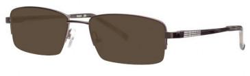 Ferucci FE690 Sunglasses in Shiny Gunmetal
