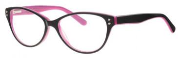 Metz ME1482 Glasses in Black/Pink