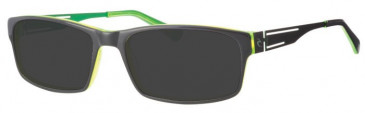 Rip Curl VOAM05 Sunglasses in Dark Grey/Green