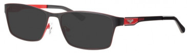 Schott SC4019 Sunglasses in Black/Red