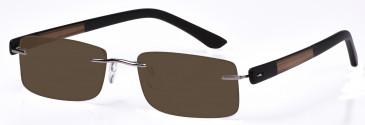 DiMarco DM107 Sunglasses in Medium Gunmetal