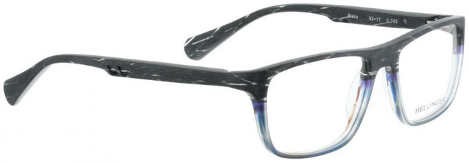 Bellinger BLAKE-743 Glasses in Matt Grey Pattern/Blue