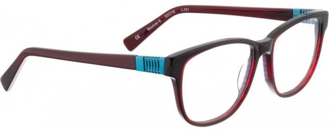 Bellinger BOUNCE-6-101 Glasses in Red/Black Pattern