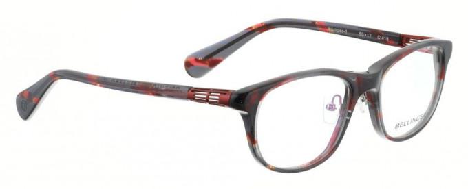Bellinger BUMPER-1-418 Glasses in Black/Red Pattern