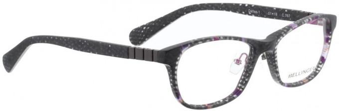 Bellinger DALLAS-1-767 Glasses in Matt Grey/Purple Pattern
