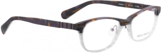 Bellinger DALLAS-1-296 Glasses in Matt Brown Pattern/White