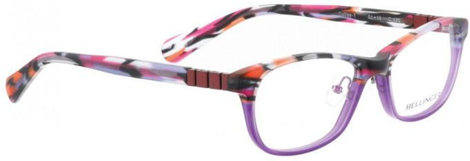 Bellinger DALLAS-1-126 Glasses in Red Pattern/Purple