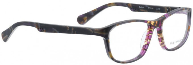Bellinger FALLON-265 Glasses in Brown/Purple Pattern