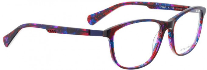 Bellinger TRICAB-146 Glasses in Red/Blue/Purple Pattern