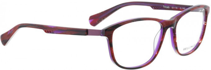 Bellinger TRICAB-160 Glasses in Red/Purple Pattern
