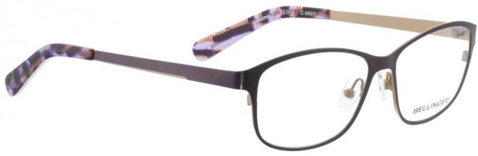 Bellinger GOLDLINE-1-6897 Glasses in Dark Purple/Matt Gold