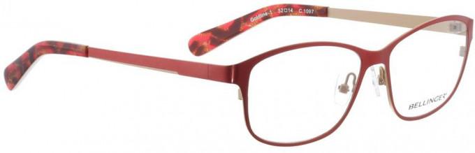 Bellinger GOLDLINE-1-1097 Glasses in Bright Red/Matt Gold