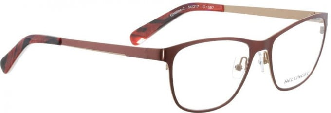 Bellinger GOLDLINE-2-1597 Glasses in Dark Red/Matt Gold