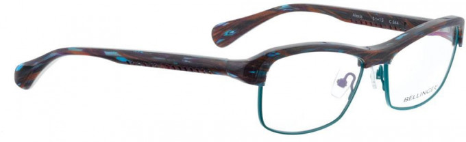 Bellinger ALEXIS-644 Glasses in Purple/Blue Pattern