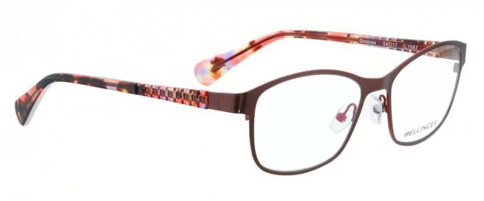 Bellinger GROOVES-1567 Glasses in Dark Red