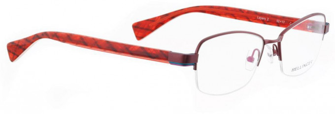 Bellinger LAYERS-2-10 Glasses in Red Pearl