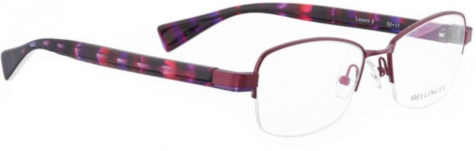 Bellinger LAYERS-2-68 Glasses in Aubergine Pearl