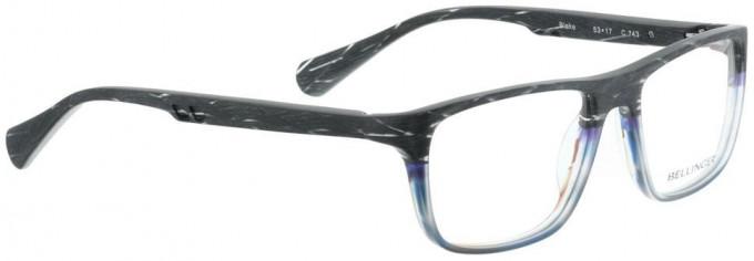 Bellinger BLAKE-743 Glasses in Matt Grey Pattern/Blue