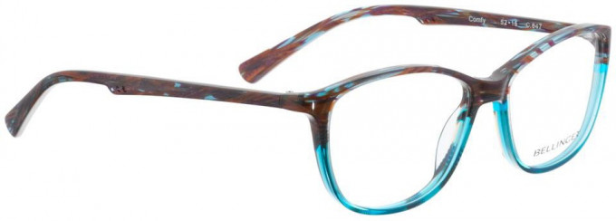 Bellinger COMFY-647 Glasses in Purple/Turquoise Pattern