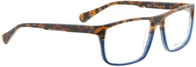 Bellinger JR-242 Glasses in Matt Brown Pattern/Blue