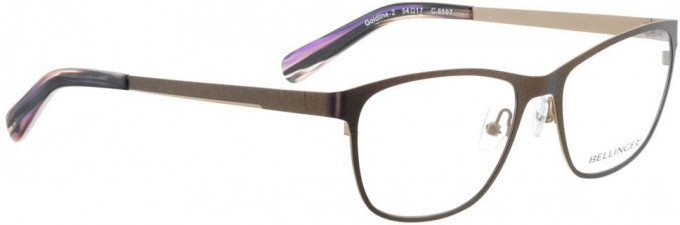 Bellinger GOLDLINE-2-6597 Glasses in Metallic Purple/Matt Gold