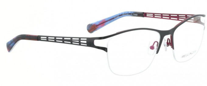Bellinger TRUSS-7969 Glasses in Matt Grey/Aubergine