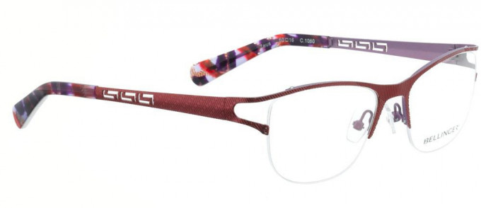 Bellinger ZEUS-1060 Glasses in Bright Red/Light Purple