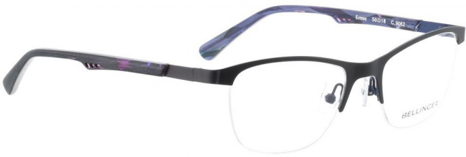 Bellinger ERMIS-9062 Glasses in Matt Black/Bright Purple