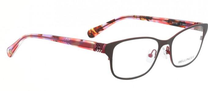 Bellinger RIBS-1-2867 Glasses in Matt Brown/Pink
