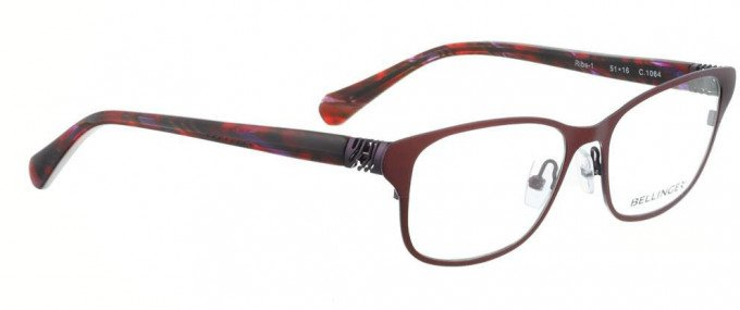 Bellinger RIBS-1-1064 Glasses in Shiny Dark Red/Purple