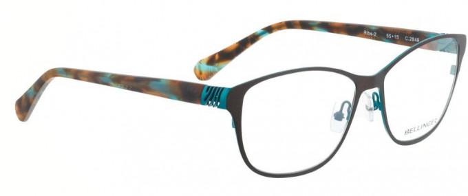 Bellinger RIBS-2-2849 Glasses in Matt Brown/Blue