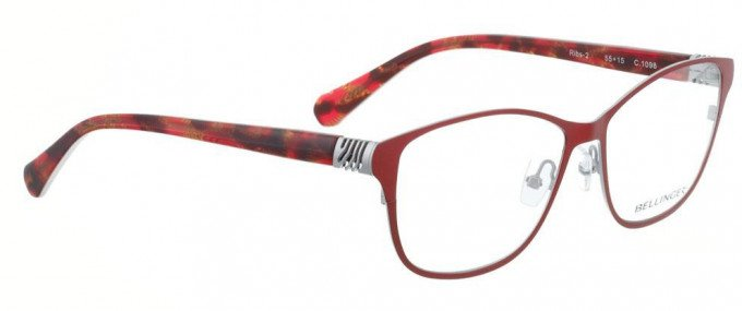 Bellinger RIBS-2-1098 Glasses in Shiny Bright Red/Silver