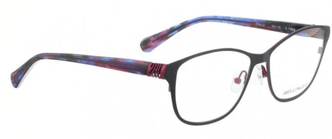 Bellinger RIBS-2-7969 Glasses in Matt Dark Grey/Aubergine