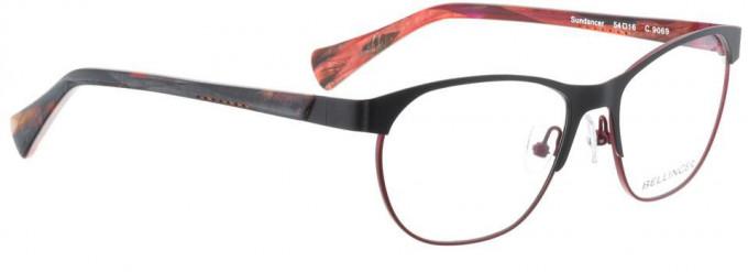 Bellinger SUNDANCER-9069 Glasses in Matt Black/Cherry