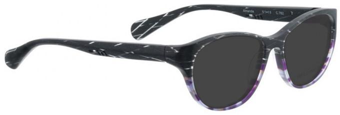 Bellinger AMANDA-762 Sunglasses in Grey/Purple Pattern