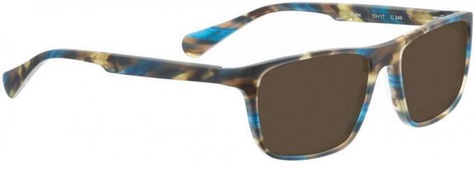 Bellinger BLAKE-249 Sunglasses in Matt Brown/Blue Pattern