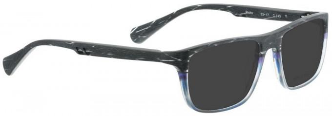Bellinger BLAKE-743 Sunglasses in Matt Grey Pattern/Blue